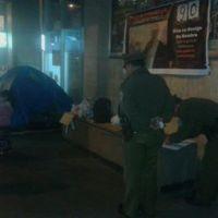 [URGENTE] Intendecia de Santiago notifica desalojo a trabajador en huelga de hambre.