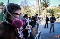 Manifestante con mascarilla 2
