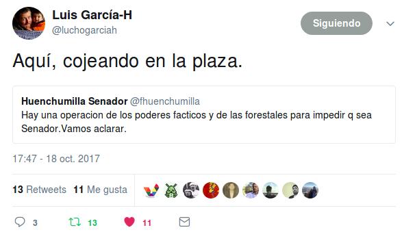 """El """"Cojo"""" Huenchumilla"""