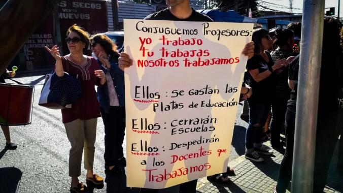Pancarta de manifestante