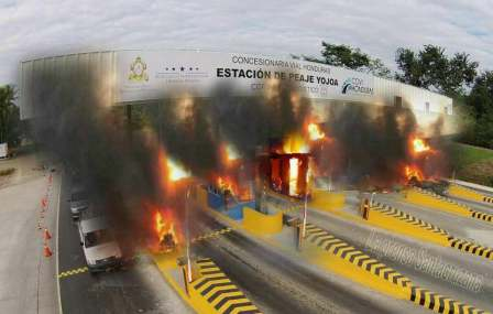 Protesta en Honduras