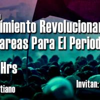 """Invitación foro """"Movimiento Revolucionario Y Tareas Para El Periodo"""""""
