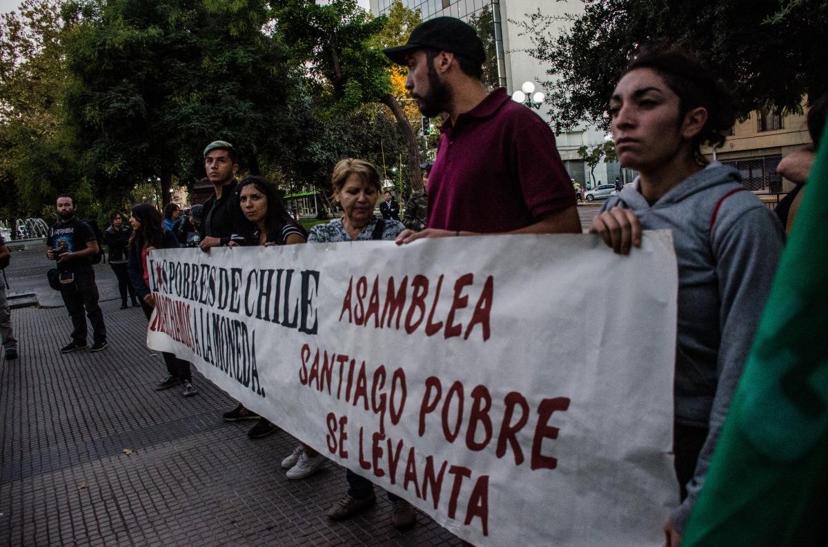 """[Fotos 📷] Con detenidos termina """"Marcha de los y las pobres"""" en 3 regiones del país"""