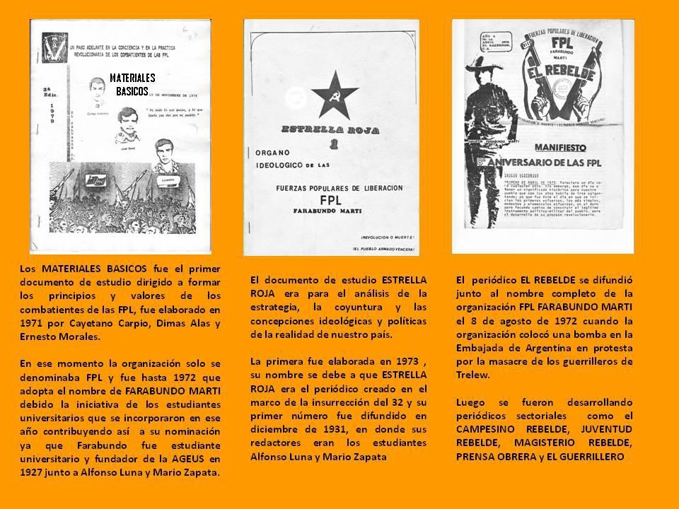 Fuerzas Populares de Liberación FPL Farabundo Martí