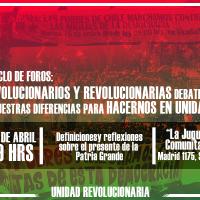Unidad Revolucionaria: Tercer Foro - Latinoamérica