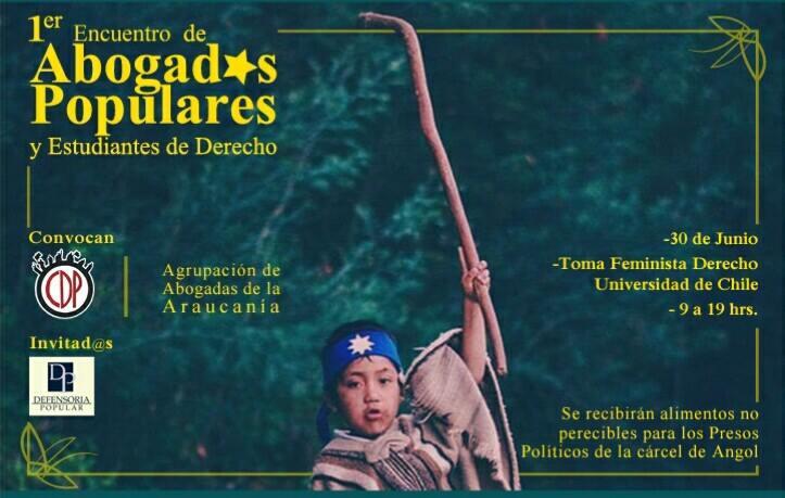 Convocan al 1° encuentro de abogados/as populares en Santiago