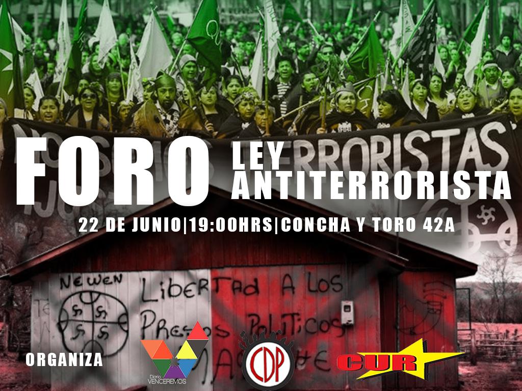 Editorial|Vuelve Foro sobre Ley Antiterrorista este 22 de Junio