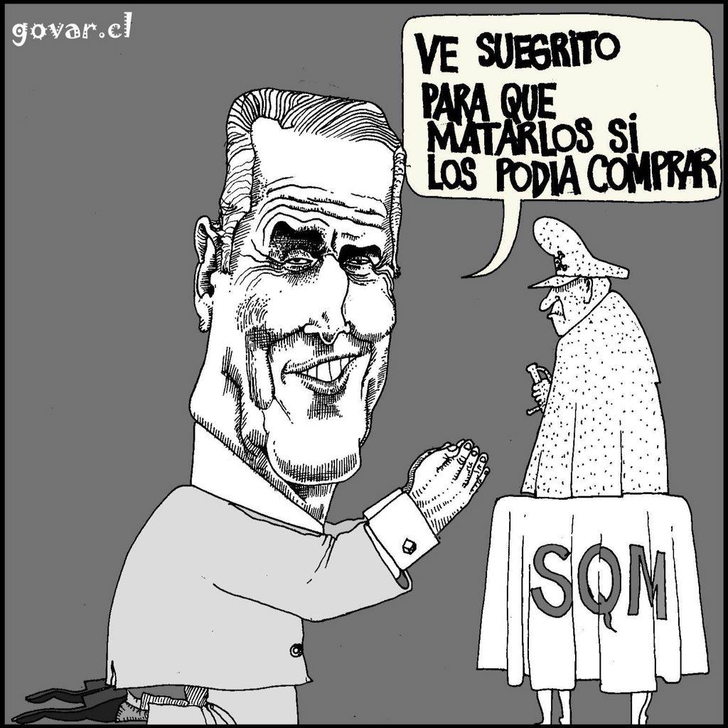 SQM: Bachelet y Piñera se Aman