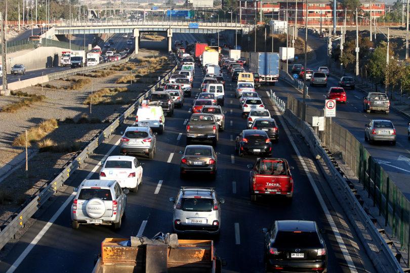 Congestión en Vespucio Sur por manifestación