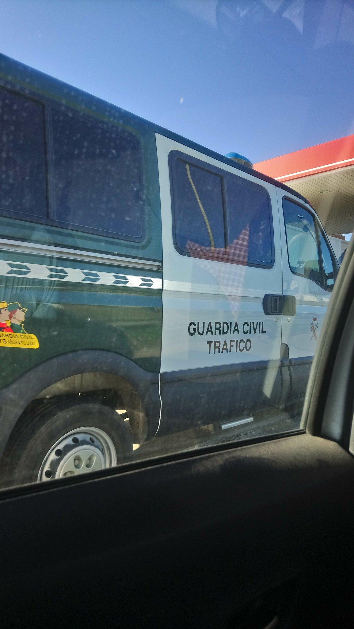Patrulla de la Guardia Civil que detuvo a Hasel